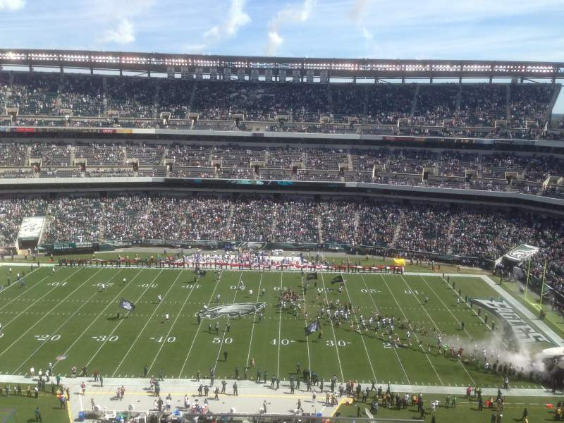Seating view for Lincoln Financial Field Section 201 Row 11 Seat 1