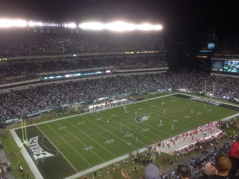 Seating view for Lincoln Financial Field Section 220 Row 12 Seat 7