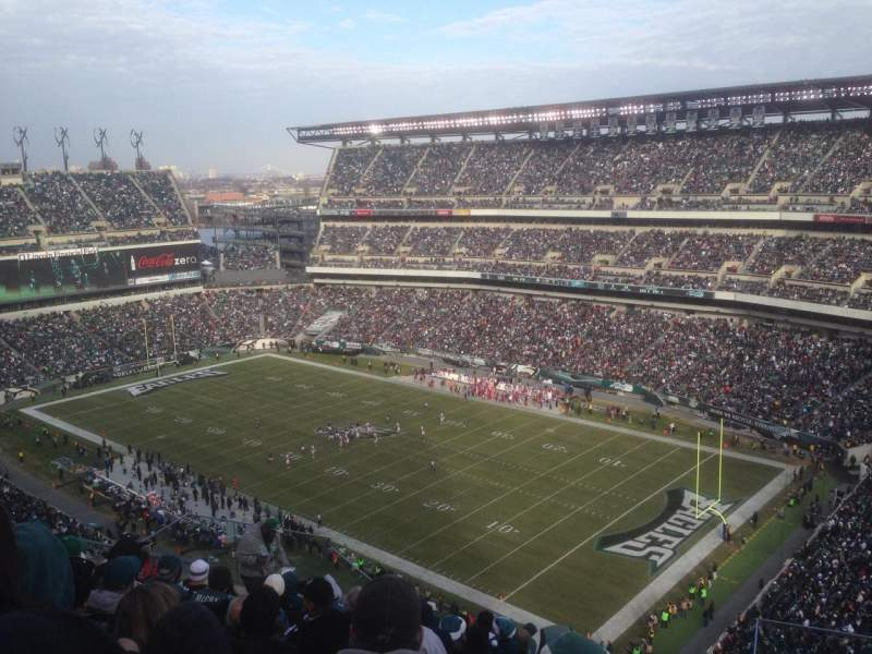 Seating view for Lincoln Financial Field Section 207 Row 16 Seat 9