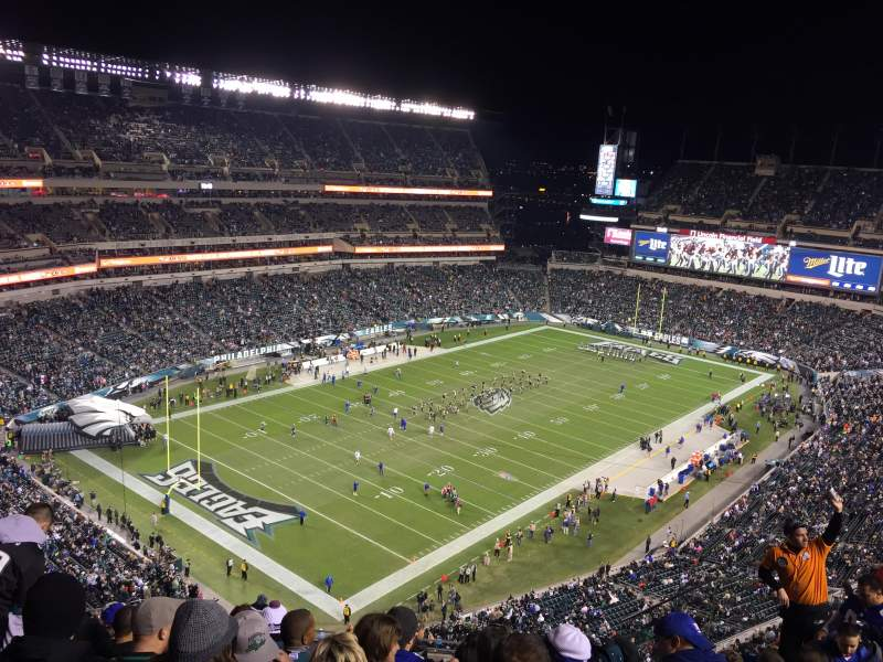 Seating view for Lincoln Financial Field Section 218 Row 13 Seat 5