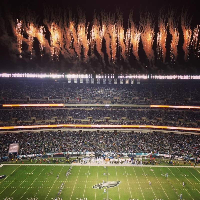 Seating view for Lincoln Financial Field Section 201 Row 18 Seat 23
