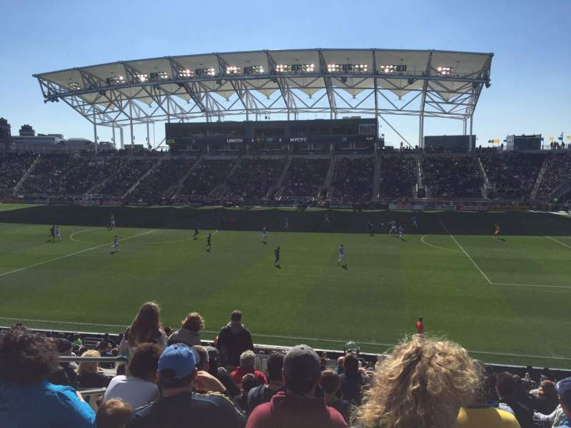 Seating view for Talen Energy Stadium Section 124 Row X Seat 16