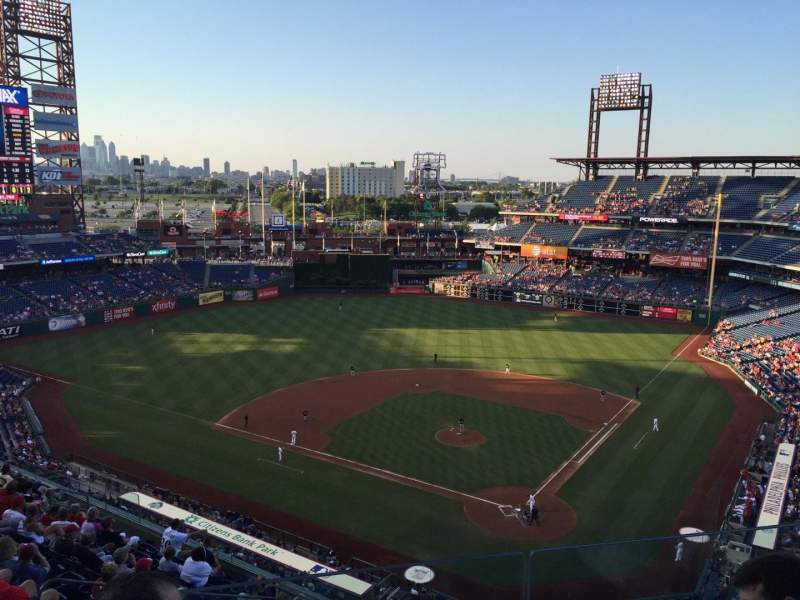 Seating view for Citizens Bank Park Section 422 Row 3 Seat 20