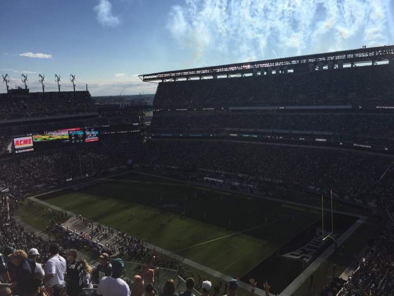 Seating view for Lincoln Financial Field Section 231 Row 15 Seat 11