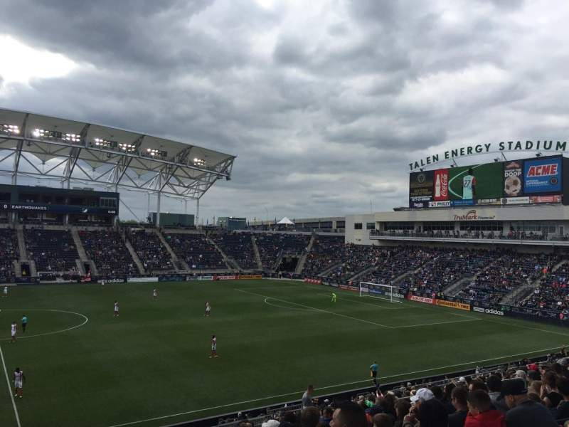 Talen Energy Stadium, section: 127, row: AA, seat: 18