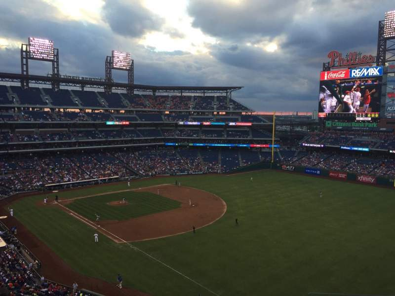 Seating view for Citizens Bank Park Section 309 Row 6 Seat 3