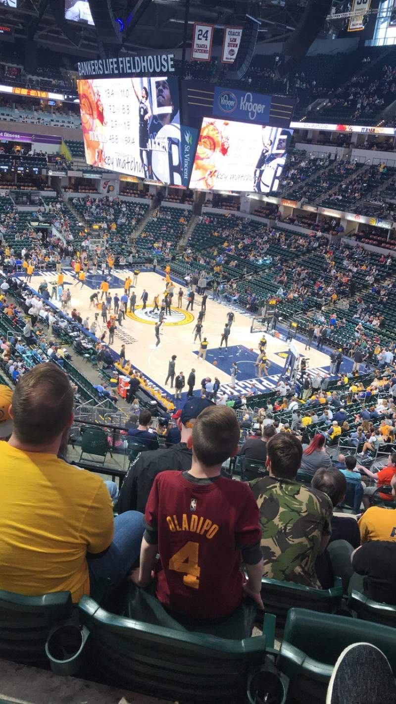 Seating view for Bankers Life Fieldhouse Section 2 Row 34 Seat 20
