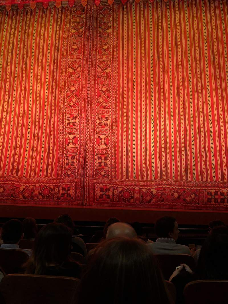 Seating view for New Amsterdam Theatre Section Orchestra C Row E Seat 104