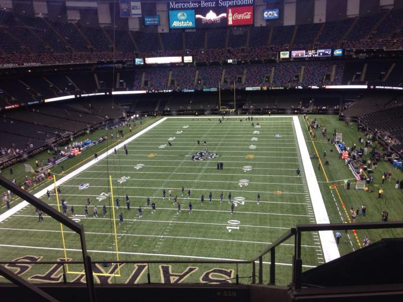 Seating view for Mercedes-Benz Superdome Section 651 Row 3 Seat 10