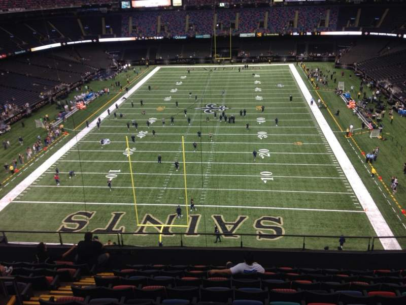 Mercedes benz superdome section 652 row 6 seat 10 new for Mercedes benz superdome suites