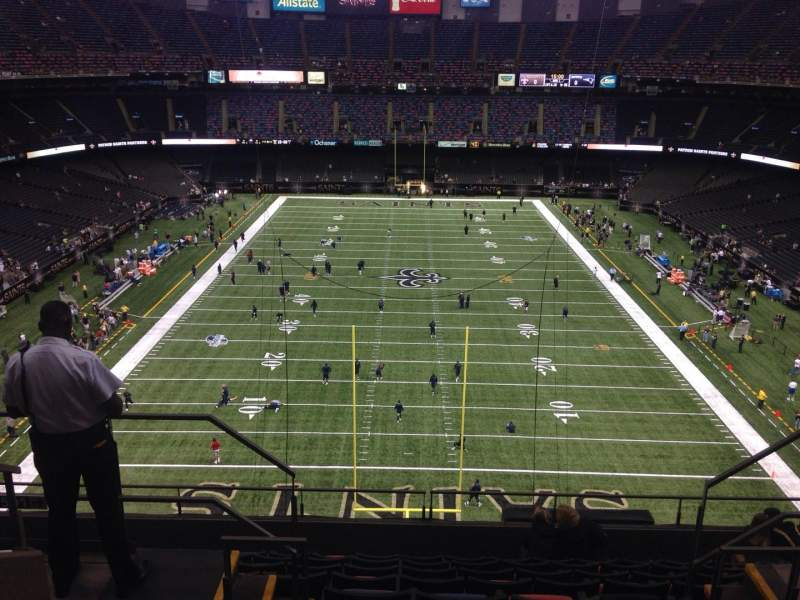 Seating view for Mercedes-Benz Superdome Section 601 Row 6 Seat 10