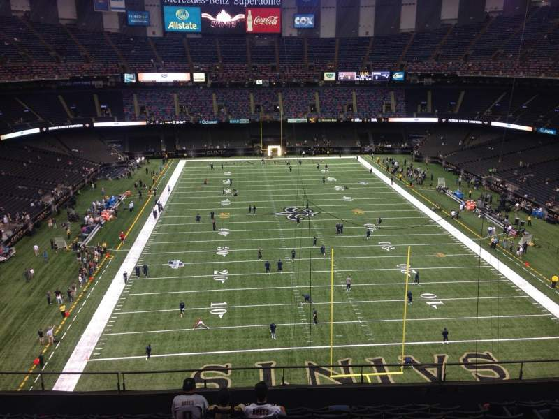 Seating view for Mercedes-Benz Superdome Section 602 Row 7 Seat 10