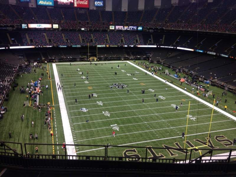 Seating view for Mercedes-Benz Superdome Section 604 Row 9 Seat 9