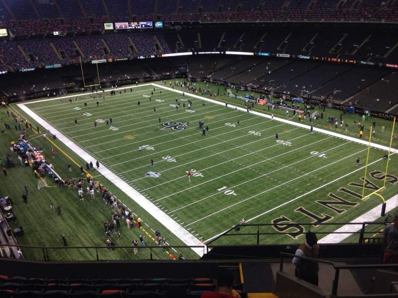 Seating view for Mercedes-Benz Superdome Section 606 Row 10 Seat 8