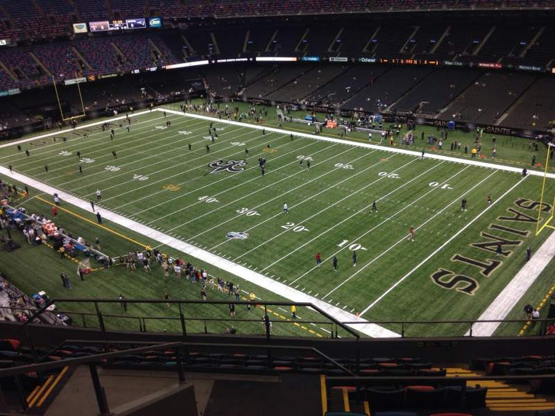 Seating view for Mercedes-Benz Superdome Section 607 Row 12 Seat 19