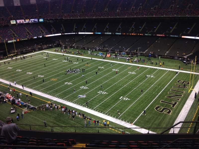 Seating view for Mercedes-Benz Superdome Section 608 Row 12 Seat 9