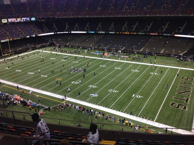 Seating view for Mercedes-Benz Superdome Section 609 Row 12 Seat 11