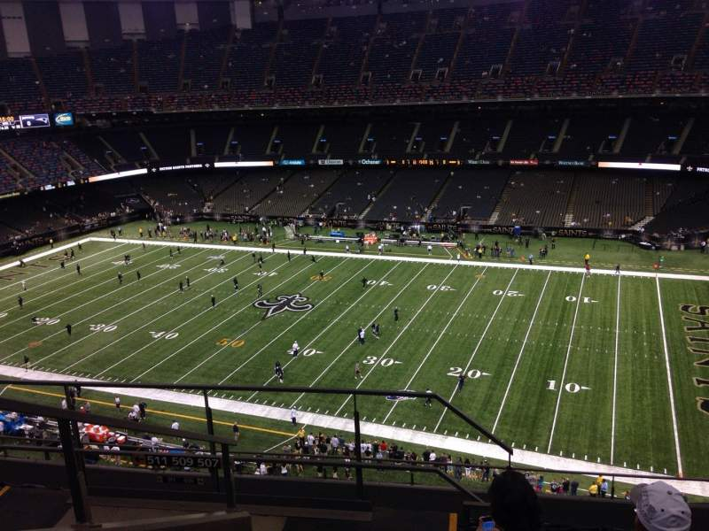Seating view for Mercedes-Benz Superdome Section 610 Row 11 Seat 21
