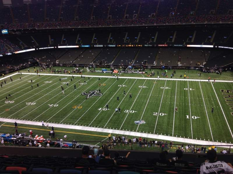 Seating view for Mercedes-Benz Superdome Section 611 Row 11 Seat 13