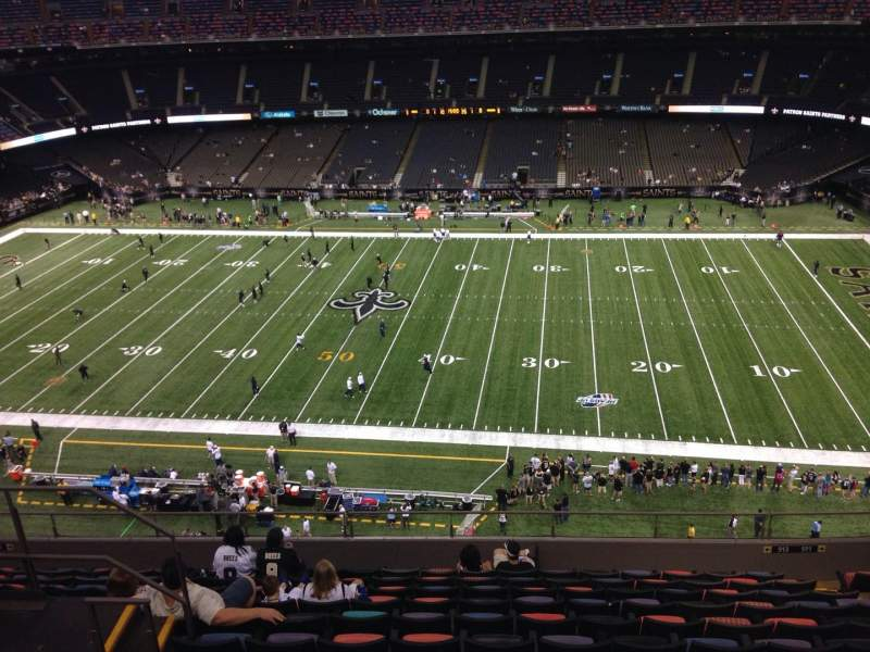 Seating view for Mercedes-Benz Superdome Section 612 Row 12 Seat 17