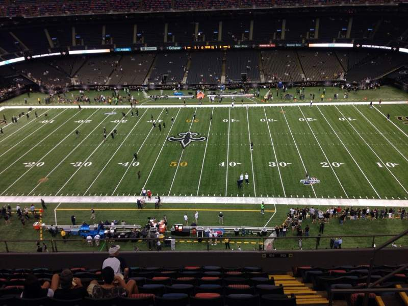 Seating view for Mercedes-Benz Superdome Section 613 Row 11 Seat 11