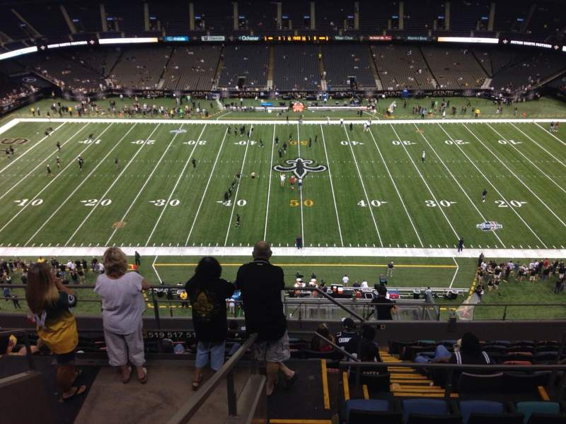 Seating view for Mercedes-Benz Superdome Section 614 Row 12 Seat 12