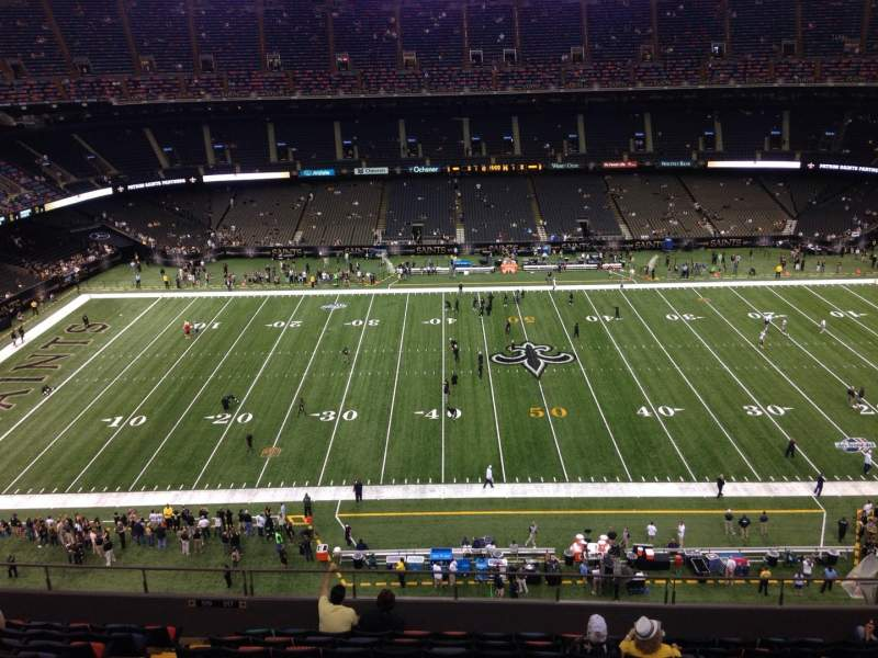 Seating view for Mercedes-Benz Superdome Section 615 Row 12 Seat 7