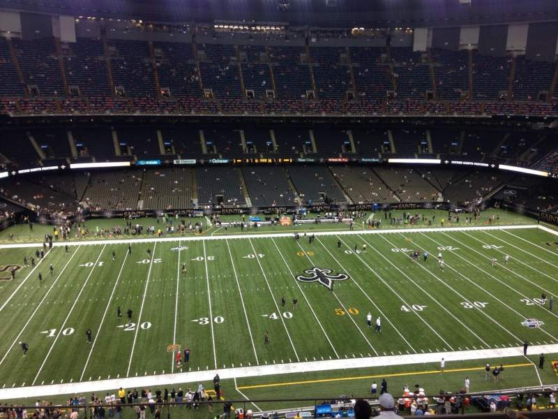 Seating view for Mercedes-Benz Superdome Section 616 Row 11 Seat 8