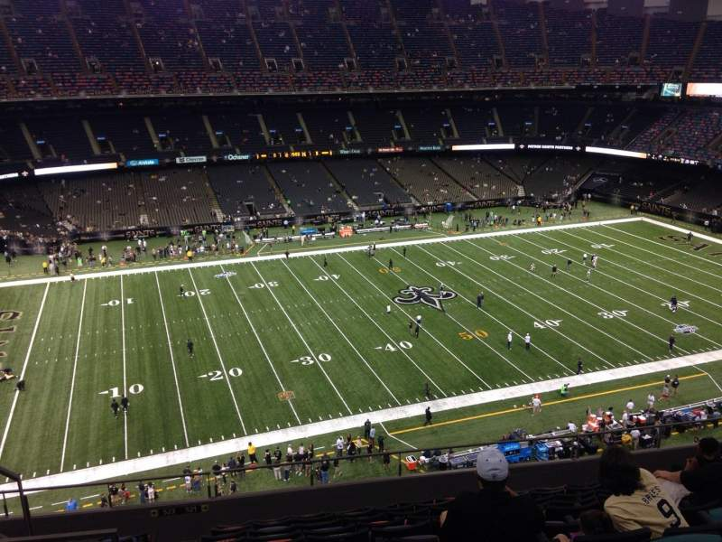 Seating view for Mercedes-Benz Superdome Section 617 Row 11 Seat 12