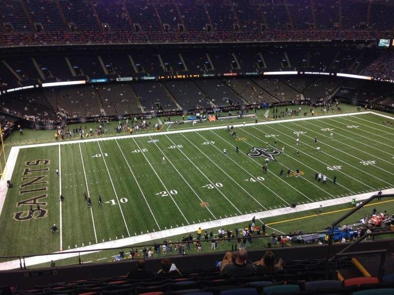 Mercedes benz superdome section 618 row 11 seat 7 new for Mercedes benz superdome suites