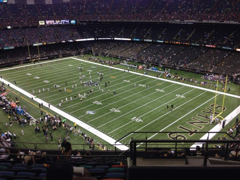 Seating view for Mercedes-Benz Superdome Section 633 Row 14 Seat 5