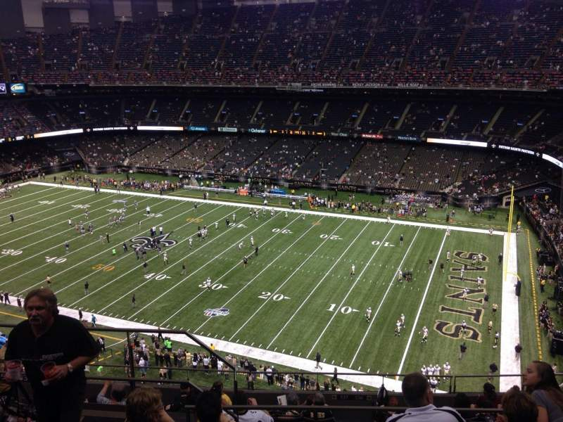 Seating view for Mercedes-Benz Superdome Section 635 Row 12 Seat 15