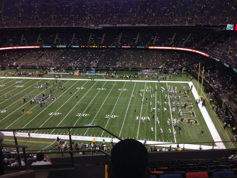 Seating view for Mercedes-Benz Superdome Section 636 Row 11 Seat 21