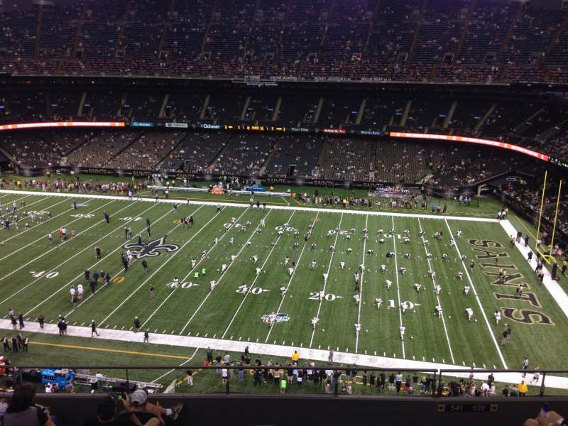 Seating view for Mercedes-Benz Superdome Section 636 Row 8 Seat 13
