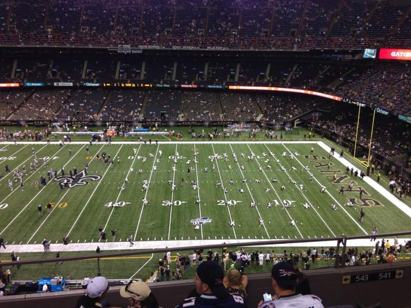 Seating view for Mercedes-Benz Superdome Section 638 Row 8 Seat 5
