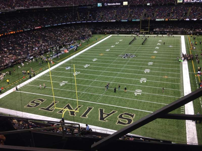 Seating view for Mercedes-Benz Superdome Section 651 Row 2 Seat 6