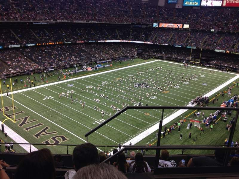 Seating view for Mercedes-Benz Superdome Section 648 Row 9 Seat 1