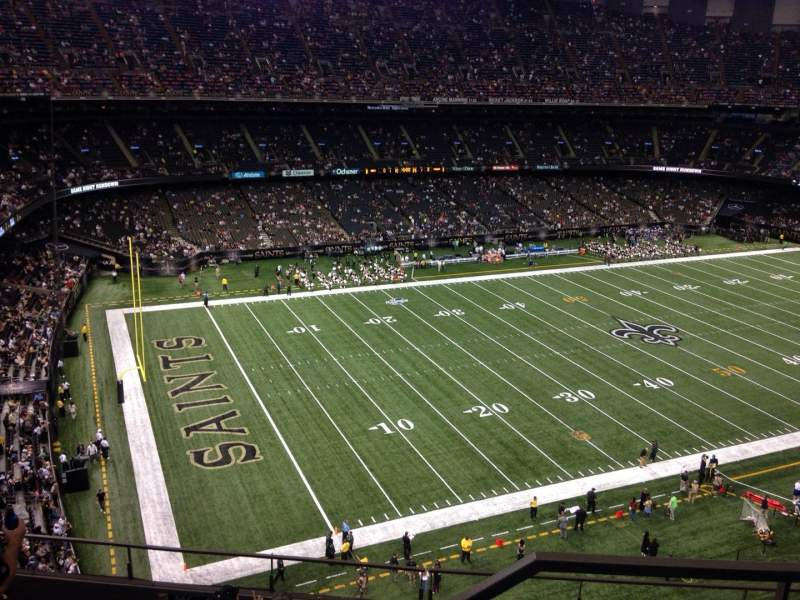 Seating view for Mercedes-Benz Superdome Section 646 Row 8 Seat 1