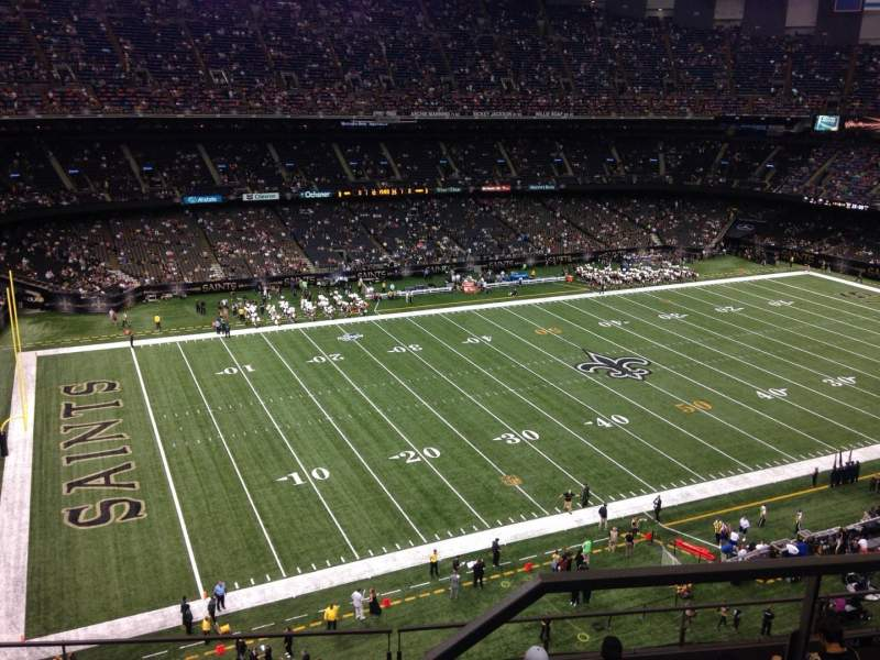 Seating view for Mercedes-Benz Superdome Section 645 Row 8 Seat 1