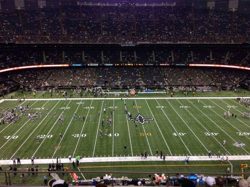 Seating view for Mercedes-Benz Superdome Section 641 Row 7 Seat 7