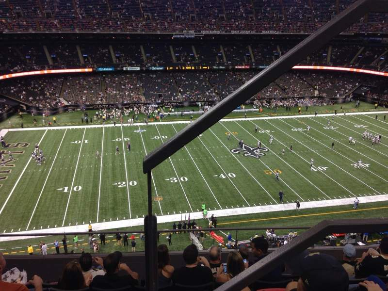 Mercedes benz superdome section 643 row 7 seat 1 new for Hotels near mercedes benz superdome in new orleans