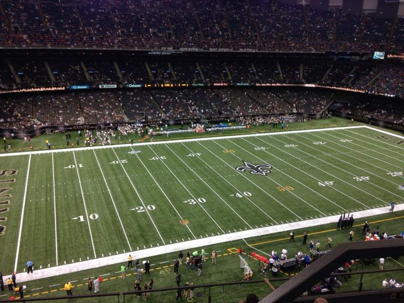 Seating view for Mercedes-Benz Superdome Section 644 Row 8 Seat 1