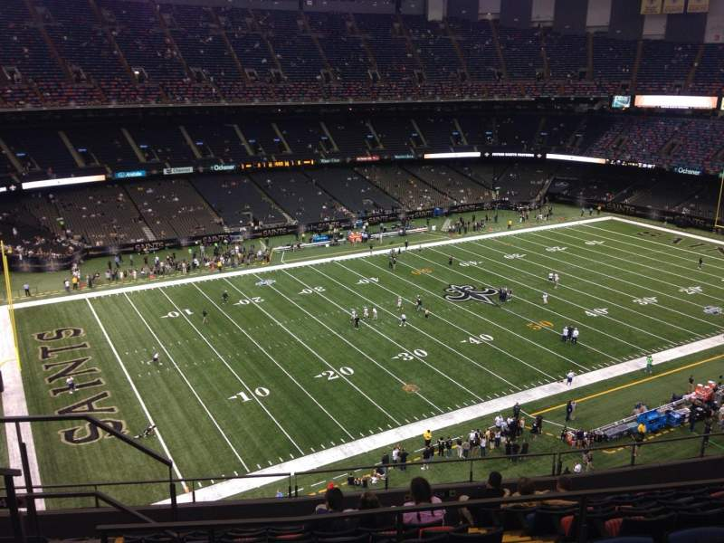 Seating view for Mercedes-Benz Superdome Section 619 Row 11 Seat 11