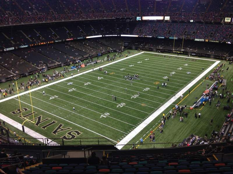 Seating view for Mercedes-Benz Superdome Section 622 Row 17 Seat 14