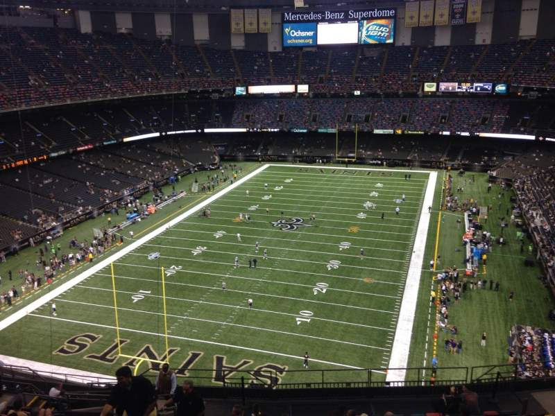Seating View For Mercedes Benz Superdome Section 624 Row 18 Seat 18
