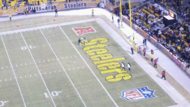 Seating view for Heinz Field Section 536 Row T Seat 2