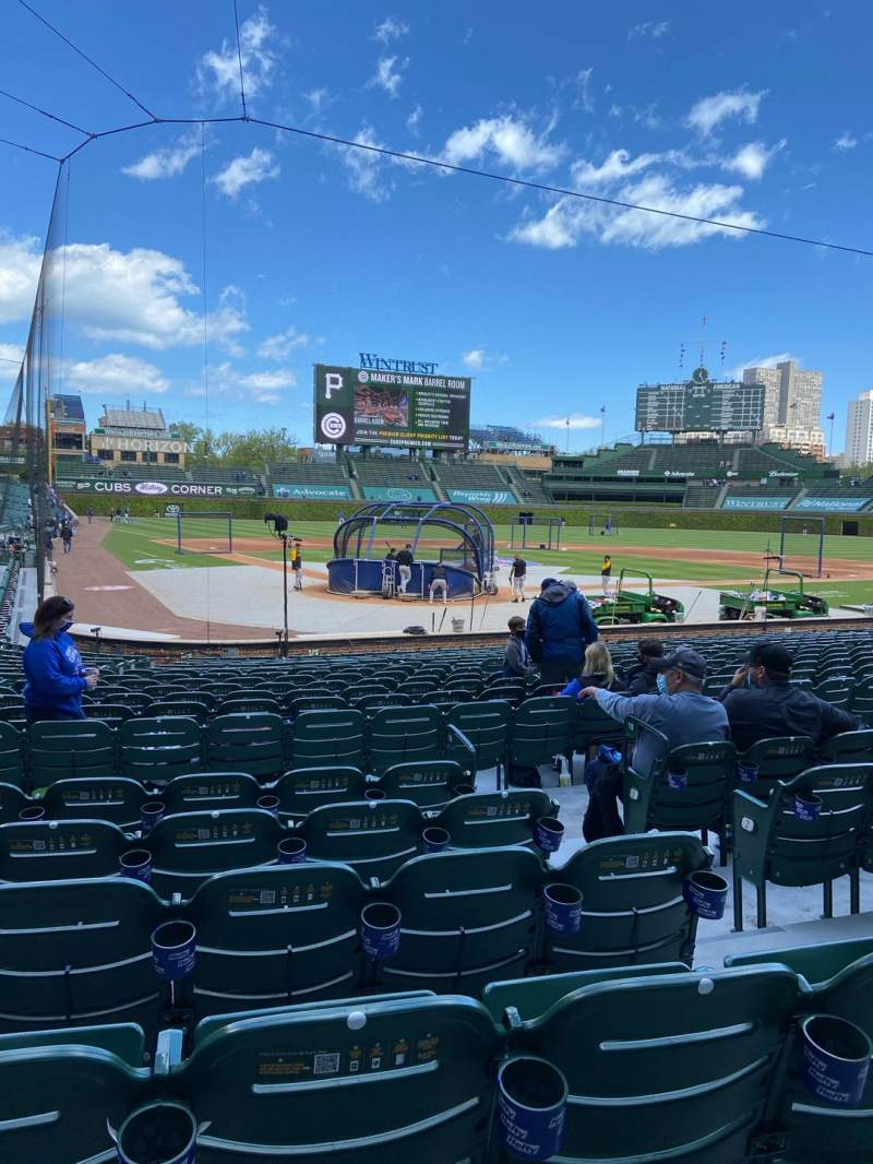 Seating view for Wrigley Field Section 119 Row 6 Seat 12