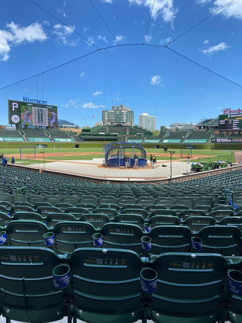 Seating view for Wrigley Field Section 117 Row 6 Seat 8