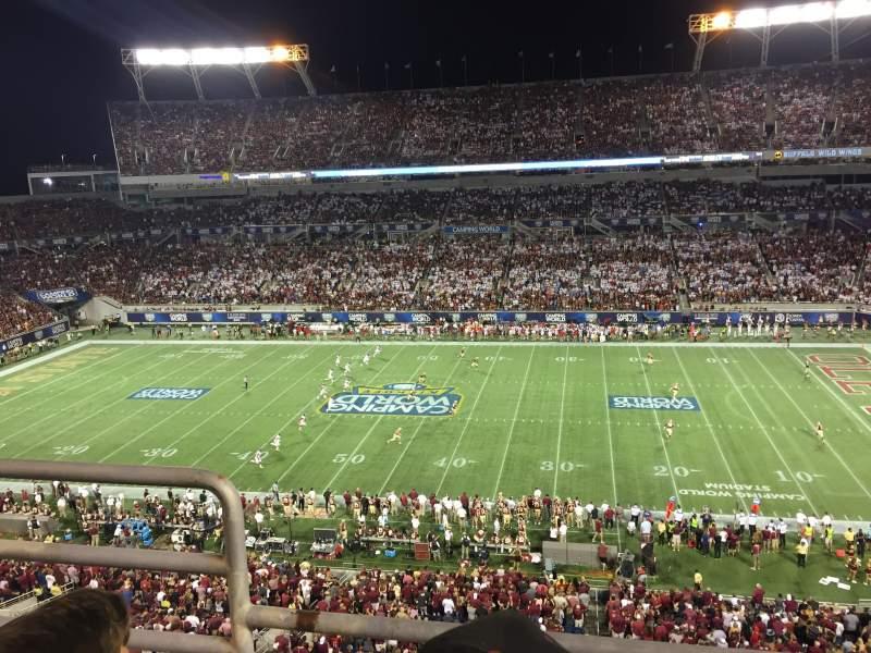 Camping World Stadium, section: 206, row: B, seat: 23