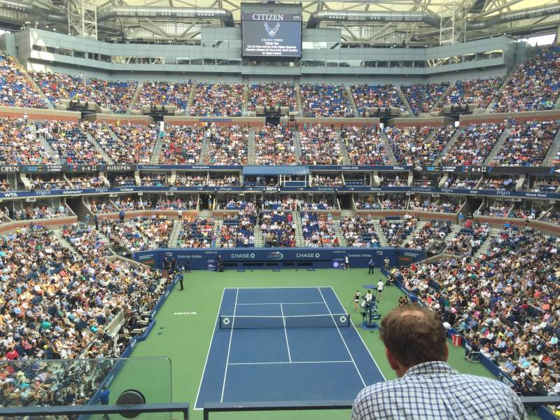 Seating view for Arthur Ashe Stadium Section 119 Row B Seat 1